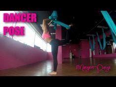 Dancer Pose Aerial Yoga Tutorial with Margie Pargie - YouTube
