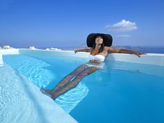 This summer enjoy the beauty of Santorini along with the exceptional services of Alexander Villas ! Santorini Honeymoon, Santorini Villas, Honeymoon Hotels, Santorini Island, Island Villa, Minimal Design, Summer Girls, Greece, Vacation