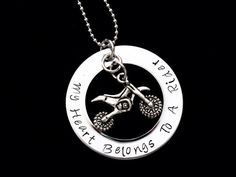 My heart belongs to a Rider hand stamped by Imsimplyhandcrafted,