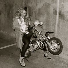 LOVE. Beyoncé revved the engine on a dirt bike.