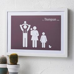 personalised family poster by a piece of   notonthehighstreet.com