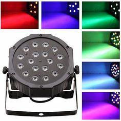 18 LED RGB PAR CAN DJ Stage DMX Lighting For Disco Party Wedding Uplighting