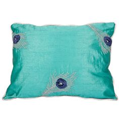 I pinned this Pyar & Co. Peacock Pillow in Sea Green from the La Vie Boheme event at Joss and Main!