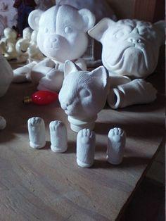 Ceramic doll parts diy Doll Parts for CAT, doll head, doll legs by MapleHillCeramics on Etsy