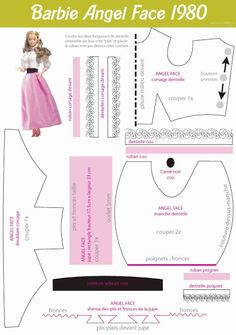 Some Barbie doll dress patterns on French. Sewing Barbie Clothes, Barbie Sewing Patterns, Doll Dress Patterns, Sewing Dolls, Free Barbie, Barbie Dress, Barbie Doll, Barbie Accessories, Clothes Crafts