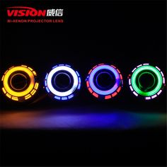64.99$  Watch now - http://alijpx.worldwells.pw/go.php?t=32674409772 - Free Shipping IPHCAR Car Styling Universal Round Double CCFL Angel Eyes 2.5'' H1 Bi-xenon Bulb Hid Projector Lens