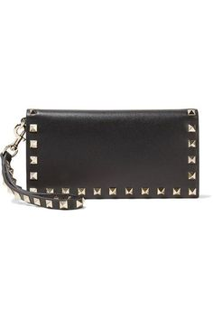 Valentino | The Rockstud Wristlet leather wallet | NET-A-PORTER.COM