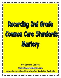This 62 page file includes:-An I Can Notebook using 2nd grade commonc ore standards (math, reading and writing)-I Can classroom graphs-A gene...