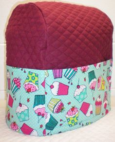 Check out this item in my Etsy shop https://www.etsy.com/listing/218429542/burgundy-teal-quilted-cupcake-cover-for
