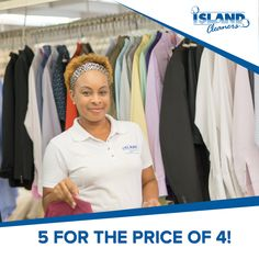 Bring in 5 or more men's shirts and we will clean one free of charge!  #IslandCleaners #laundryservices #drycleaning #FathersDay #thankyou #gentsspecial #caymanislands