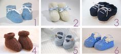 Son adorables y, además, podremos hacerlos en pequeños ratos. ¡Elige tu favorito y a tejer! Tricot Baby, Knitted Booties, Knitting For Kids, Cool Baby Stuff, Crochet Baby, Baby Shoes, Slippers, Diy Crafts, Handmade