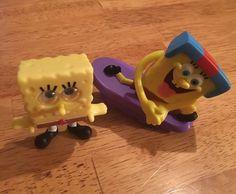 Spongebob Squarepants Happy Meal Toys McDonald's/Sonic - Skateboard, Big Eyes #McDonalds