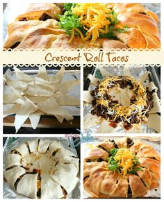 Crescent Roll Tacos Recipe - Utterly Delicious - @SoberJulie.com #recipe