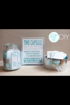 A Very Cool Time Capsule Wedding Reception Idea