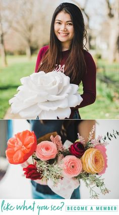 Meet paper flower artist Thao Hoang of Paper Petals HSV Large Paper Flowers, Tissue Paper Flowers, Paper Flower Backdrop, Fake Flowers, Diy Flowers, Felt Flowers Patterns, Flower Head Wreaths, Paper Party Decorations, Paper Plants