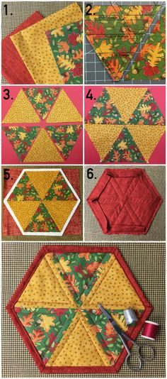 Quilted Hexagon Mug Rug — Free Pattern & Tutorial on Craftsy!