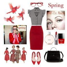 """Spring"" by brianagutierrez66 ❤ liked on Polyvore featuring Gucci, Marissa Webb, Paule Ka, Elizabeth and James, Chanel, Bobbi Brown Cosmetics and Butter London"