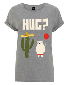 Hug by Yetiland as Women's T-Shirt Christmas Presents For Him, Textiles, Free Hugs, Outfit, Great Gifts, How To Get, T Shirts For Women, Shopping, Mens Tops