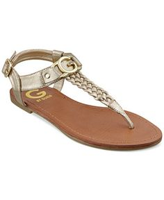 0d3d7ad839f6 G by GUESS Lyrikk Flat Thong Sandals   Reviews - Sandals   Flip Flops -  Shoes - Macy s