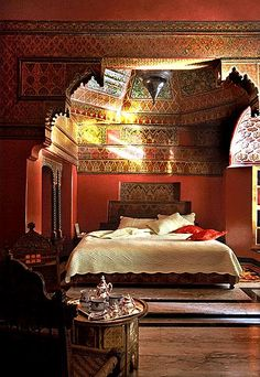 Moroccan Design Inspiration: Photos of Moroccan Riads and Hotels - La Sultana Hotel, marrakech Moroccan Design, Moroccan Decor, Moroccan Style, Moroccan Chandelier, Bedroom Themes, Bedroom Styles, Bedroom Decor, Bedrooms, Bedroom Designs