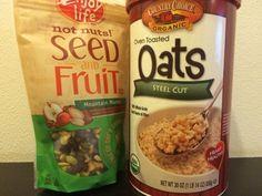 Мои покупки и отзывы на iHerb.com: Органическая ирландская овсянка и смесь ягод и семечек Snack Recipes, Snacks, Oven, Seeds, Toast, Chips, Organic, Fruit, Health