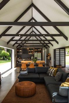 CAAHT Studio Architects created this vacation retreat consisting of two simple gable cabin forms, located in Matarangi, New Zealand. Cedar Cladding, Living In New Zealand, Indoor Outdoor Living, Cabin Homes, Interiores Design, House Plans, House Design, Studio Design, Amazing