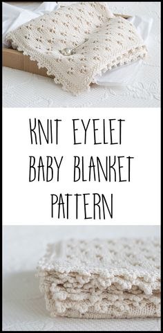 I am head over heels in love with this precious baby blanket. Pattern and instructions on how to make this knit baby blanket using the clover eyelet and crocheted cloverleaf border, with videos to provide further instructions to diy this sweet baby blanket.
