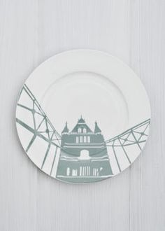 Decorative plates for the plate rack.