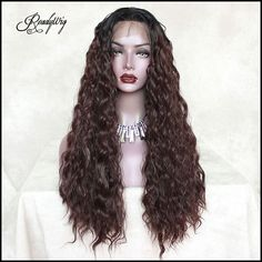 Loose curly with dark brown color. Click to see details. #wig #curlyhair #haircolor
