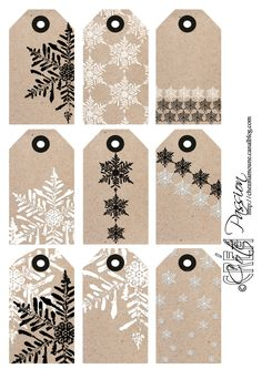 ☆...☆...☆... ........................... Christmas snowflake Tag Coté passion