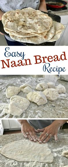 Easy Peasy Naan Bread Recipe - One Hundred Dollars a Month - Pancake Recipes Nann Bread Recipe, Naan Bread Recipe Easy, Homemade Naan Bread, Recipes With Naan Bread, Bread Machine Recipes, Banana Bread Recipes, Fideo Recipe, Savoury Recipes, Bakken
