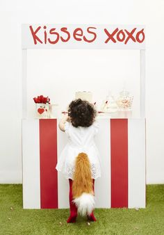 Dessert Table + Kissing Booth from a Kissing Booth Valentine's Day Party via Kara's Party Ideas | KarasPartyIdeas.com (9)