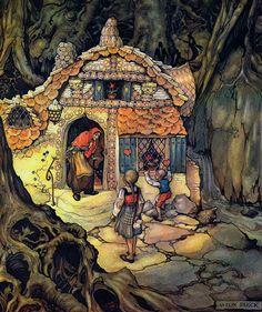 Anton Pieck, Hansel & Gretel - Hans en Grietje