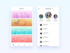 Noblyn App Redesign - iPhone UI/UX Design by Nimasha Sewwandi Perera App Ui Design, Mobile App Design, Design Web, Flat Design, Iphone Ui, Mobile Ui Patterns, Mobile App Ui, Ui Design Inspiration, Layout