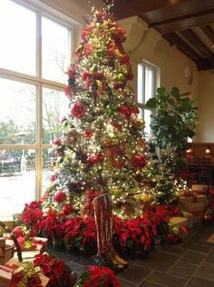 Country Christmas Decorations | Country christmas tree decorations !