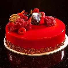 Red Entremet. Photo by @chefsconnection #chefsroll #Bachour #bachourchocolate…