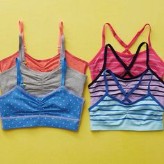 "Aerie for Yellowberry! Comfy, colorful, fun-to-wear bras made specially for our ""little sisters. Our Little Sister, Give A Little, Little Sisters, American Eagle Men, Bra Shop, Tween Girls, Mens Outfitters, Dance Outfits, Lounge Wear"