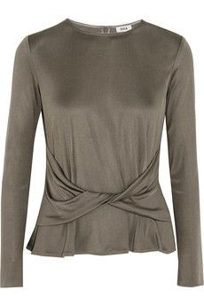Issa Frankie twist-front silk-blend jersey top | THE OUTNET