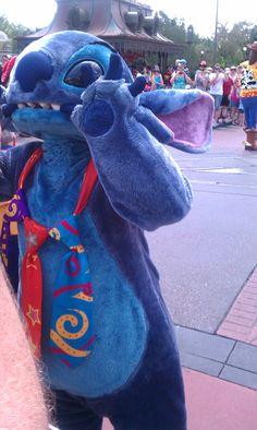 Stitch out in Disneyworld