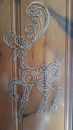 Hey, I found this really awesome Etsy listing at https://www.etsy.com/listing/219551049/deer-wire-art-sculpturewall-art