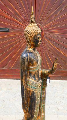 Holzbuddha aus Indien ca 170 cm € Buddha, Bronze, Statue, Art, Timber Wood, Art Background, Kunst, Performing Arts, Sculptures