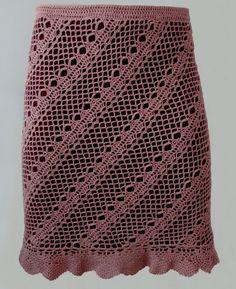 Diagonal skirt - crochet skirt pattern