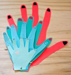 paper craft family hands possible family project for all about me or family theme