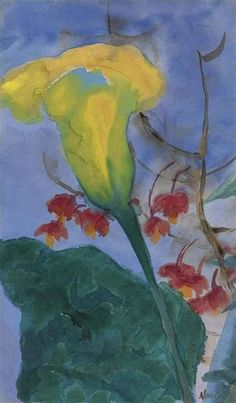 Emil Nolde, Yellow calla lilies