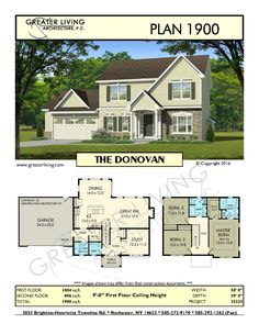 Plan 1900: THE DONOVAN - House Plans - 2 Story House Plan - Greater Living Architecture - Residential Architecture