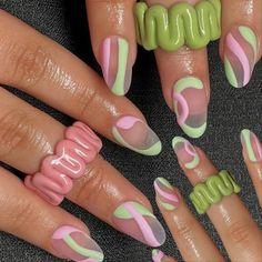 Minimalist Nails, Nail Swag, Best Acrylic Nails, Acrylic Nail Designs, Nail Art Designs, Funky Nail Designs, Almond Acrylic Nails, Aycrlic Nails, Hair And Nails