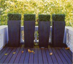 Balcony planters minimal with hedges