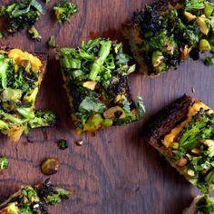 Spiced Sweet Potato and Roasted Broccoli Toasts Recipe