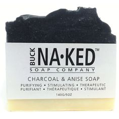Buck Naked Soap Company Charcoal & Anise Soap - Charcoal & Anise soap is designed to provide a deep clean. Soap Company, Olive Fruit, Activated Charcoal, Cold Process Soap, Acne Prone Skin, Deep Cleaning, Bar Soap, Organic Skin Care, Biodegradable Products