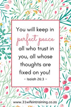 I declare; I depend on God for everything, I rely on Him and trust in Him, I set my mind on Him and He keeps me completely whole and steady on my feet. Christian Women, Christian Life, Christian Quotes, Scripture Quotes, Faith Quotes, Writing Plan, Sermon Notes, Bible Study Tips, Perfect Peace